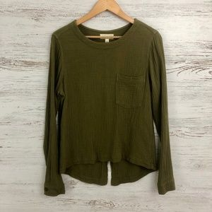 cloth & stone Button Back Top Size XS